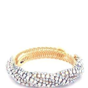 Jewelry - Flexible Golden Crystal Bracelet (New)